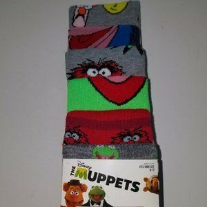 Set of 6 Disney Muppets Socks Mens Size 8-12
